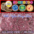 SNAZAROO FACE PAINT GLITTER GEL SALMON PINK / SILVER MIX 12ML TUB